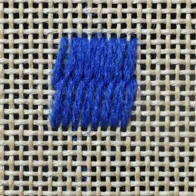 Encroaching Gobelin stitch method stage 2 photograph