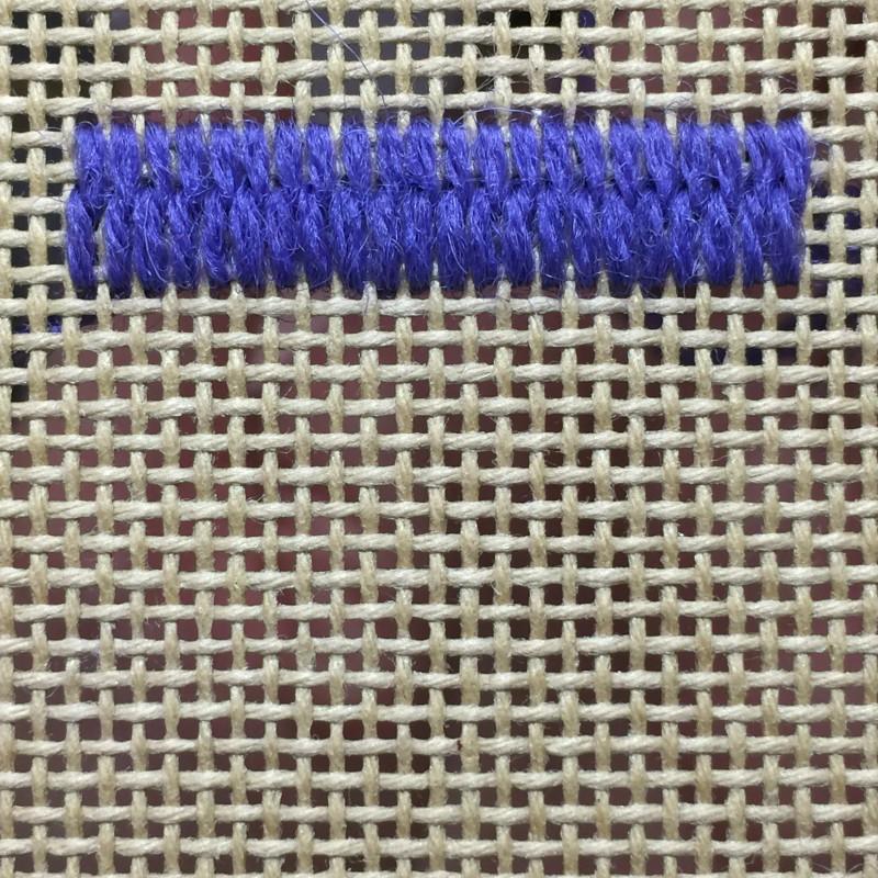 Encroaching straight Gobelin stitch method stage 2 photograph