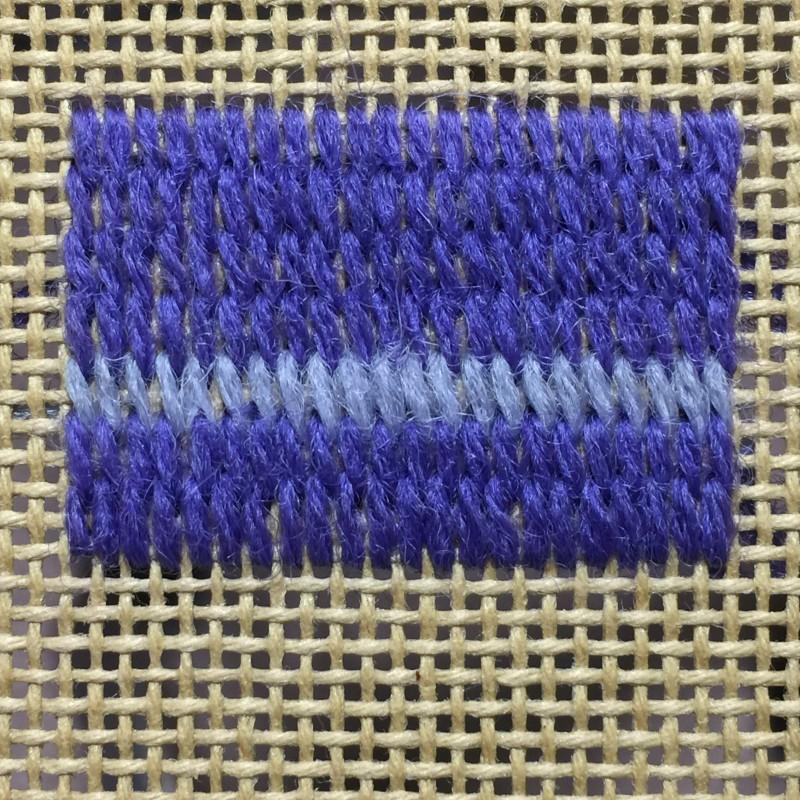 Encroaching straight Gobelin stitch method stage 3 photograph