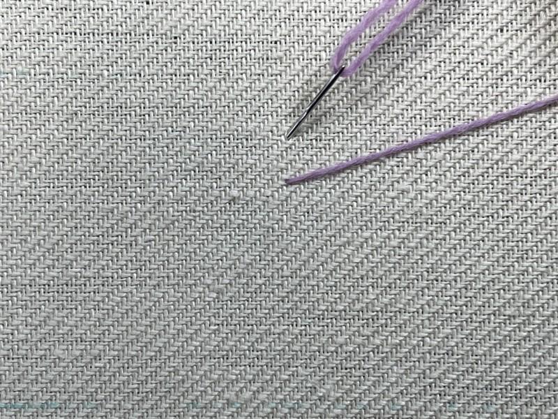 Fern stitch method stage 1 photograph