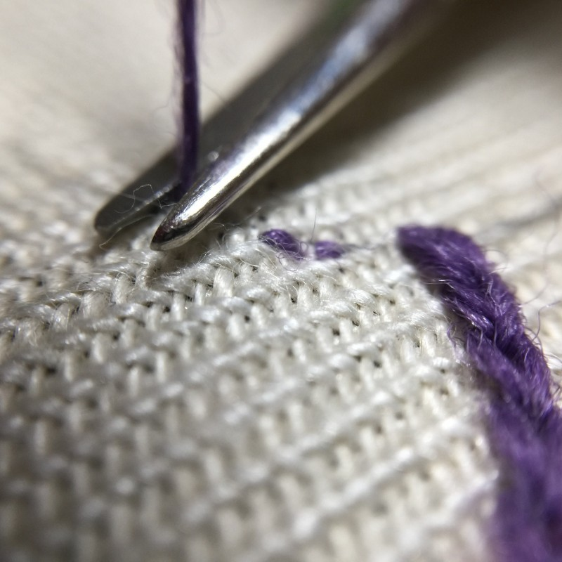 Finishing stitch method stage 2 photograph