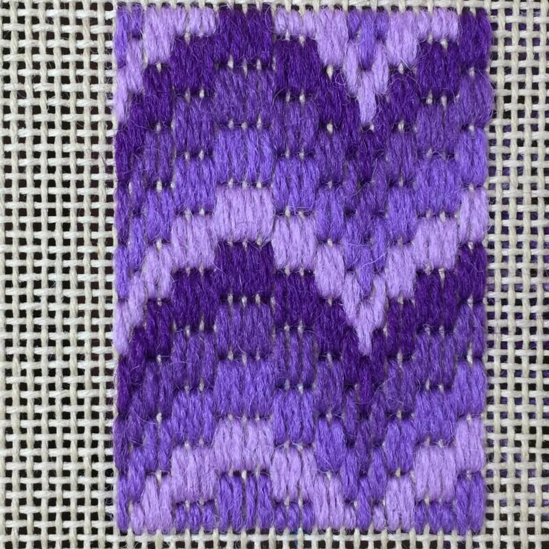 Florentine stitch method stage 1 photograph