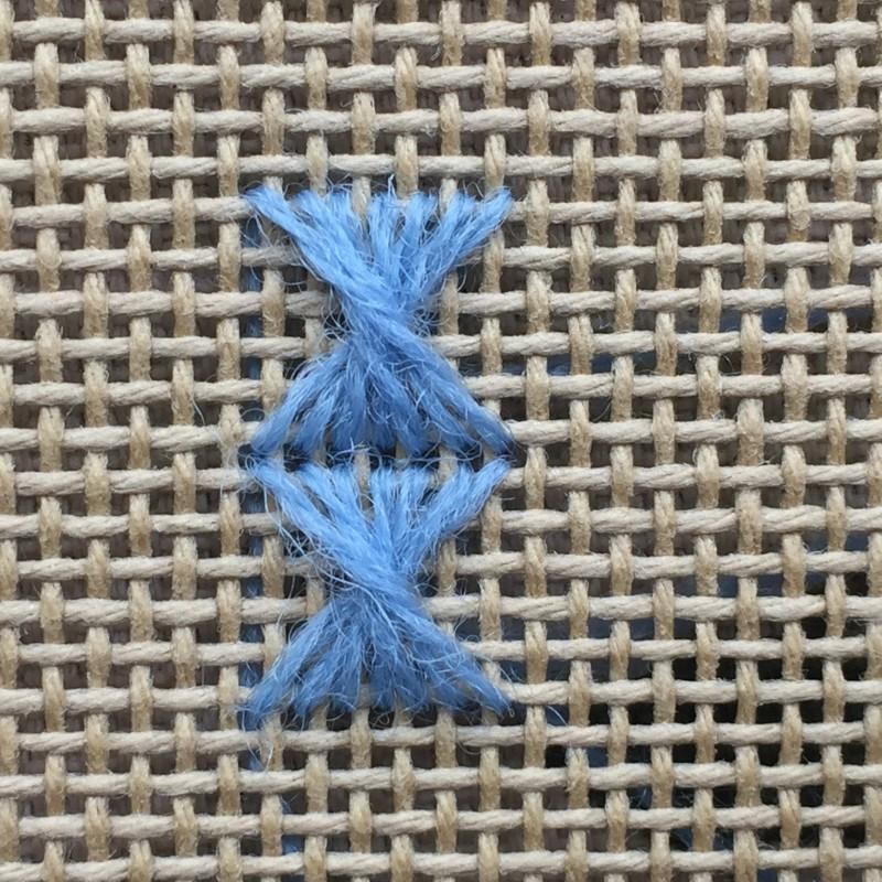 Half Rhodes stitch method stage 4 photograph