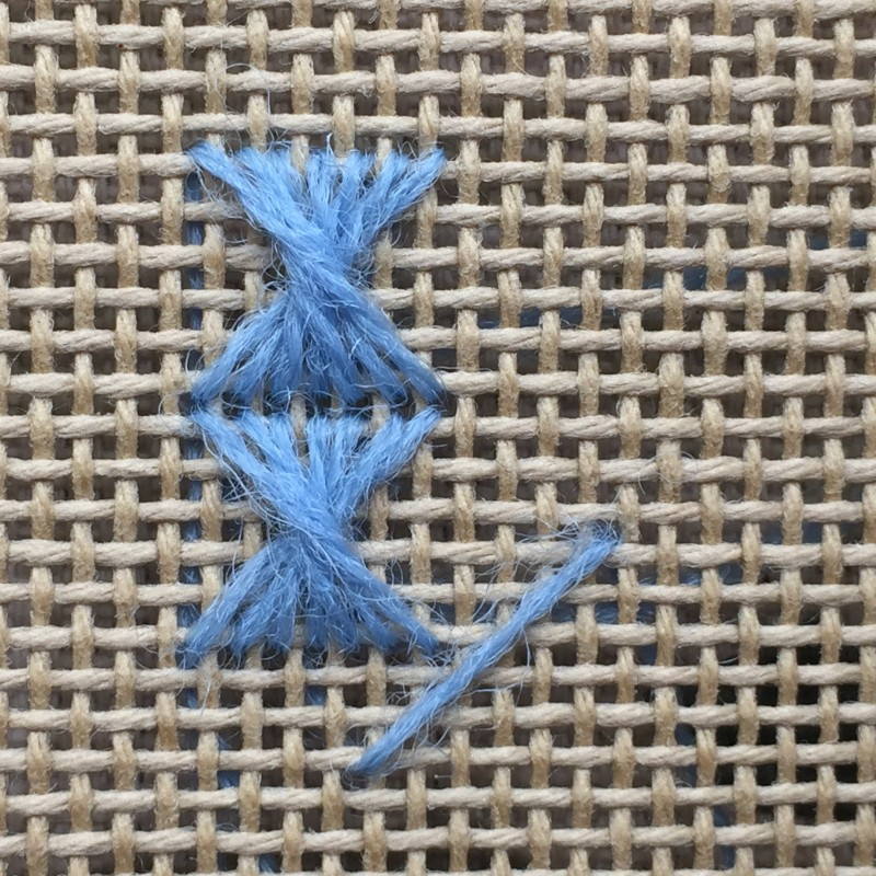 Half Rhodes stitch method stage 5 photograph