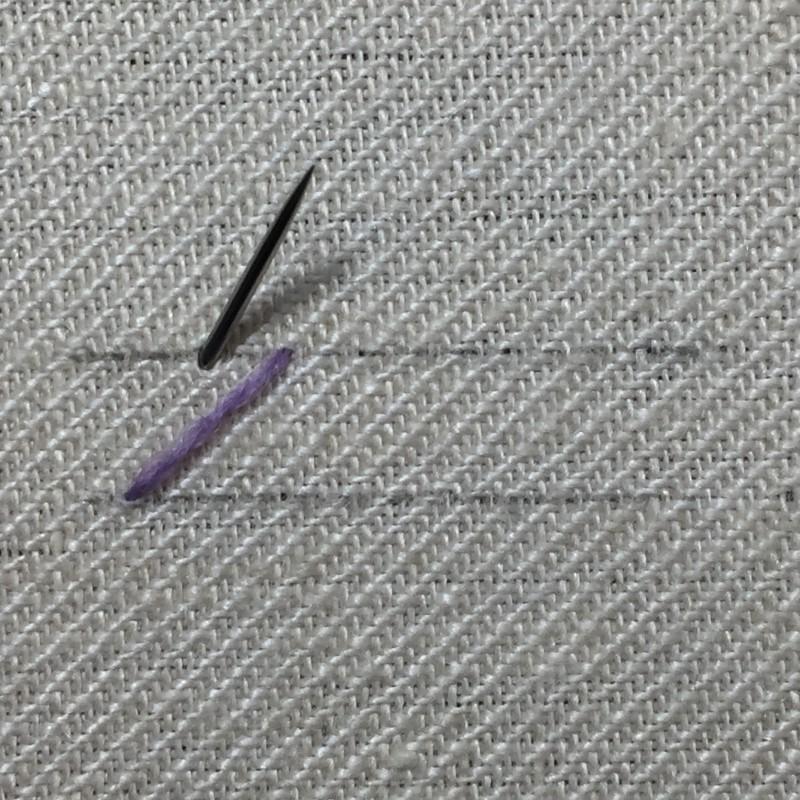 Herringbone stitch method stage 2 photograph