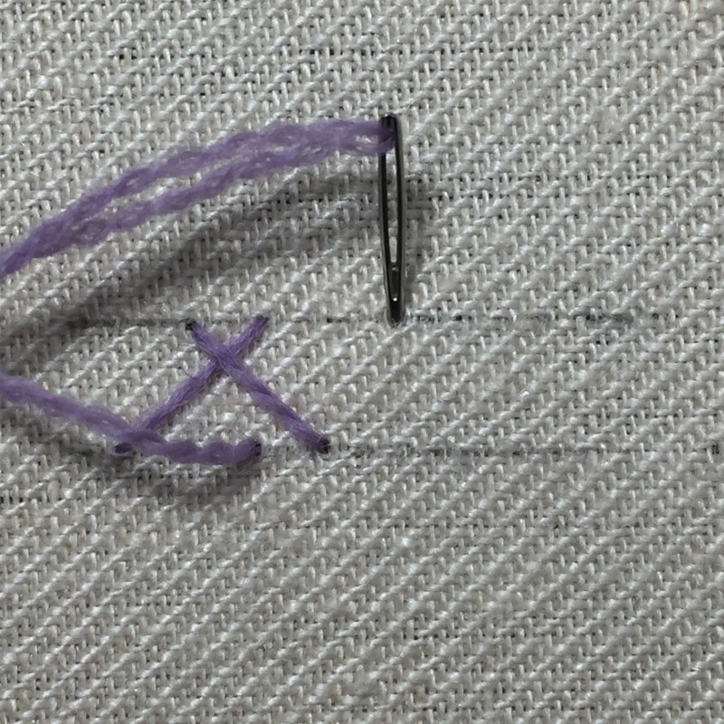 Herringbone stitch method stage 4 photograph