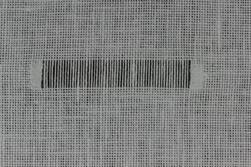 Diagonal hem stitch method stage 1 photograph