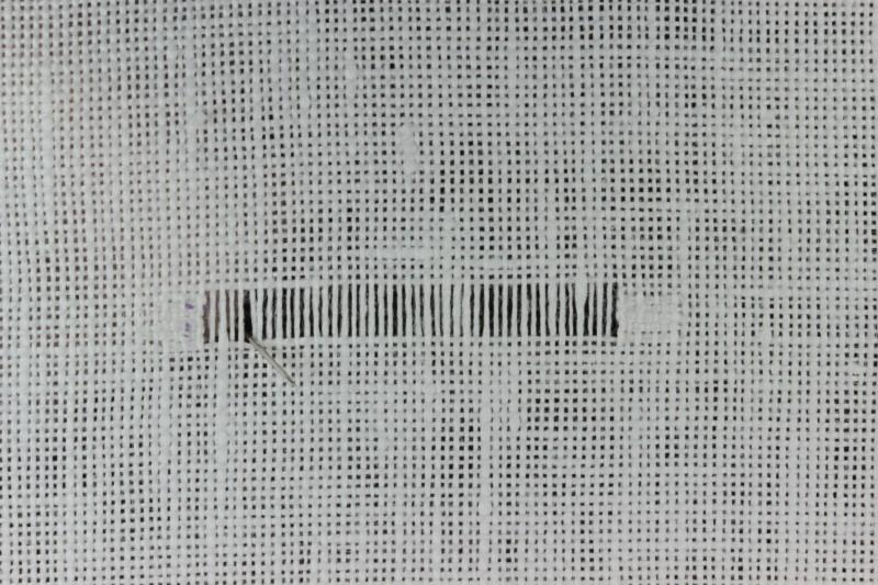 Diagonal hem stitch method stage 2 photograph