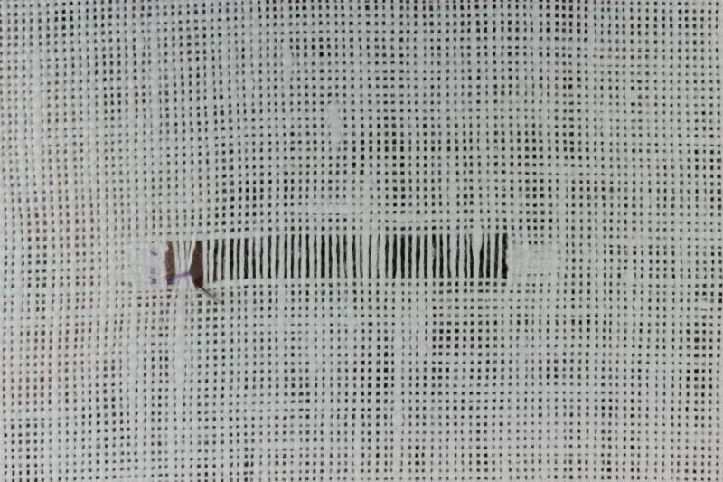 Diagonal hem stitch method stage 4 photograph