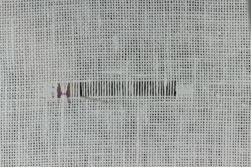 Diagonal hem stitch method stage 7 photograph