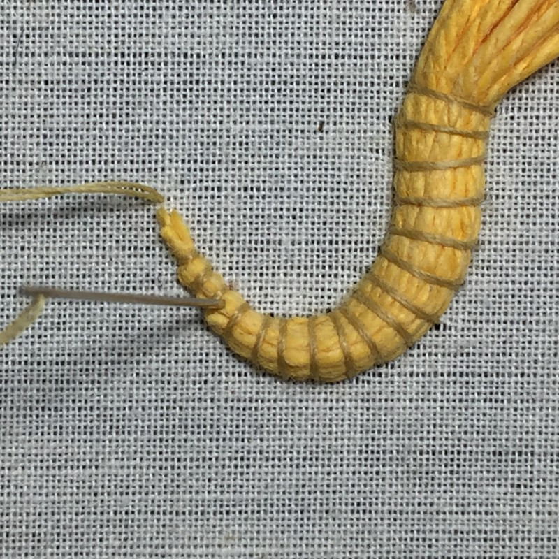Soft string padding method stage 9 photograph
