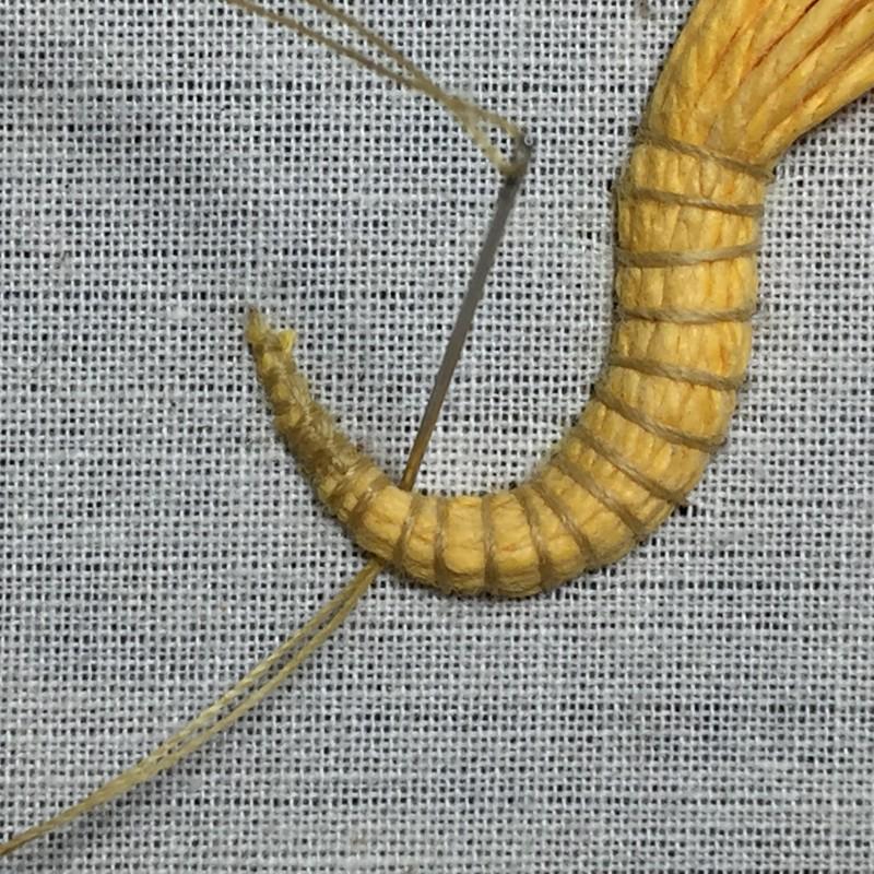 Soft string padding method stage 10 photograph