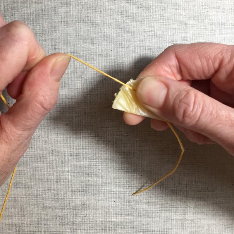 Soft string padding method stage 1 photograph