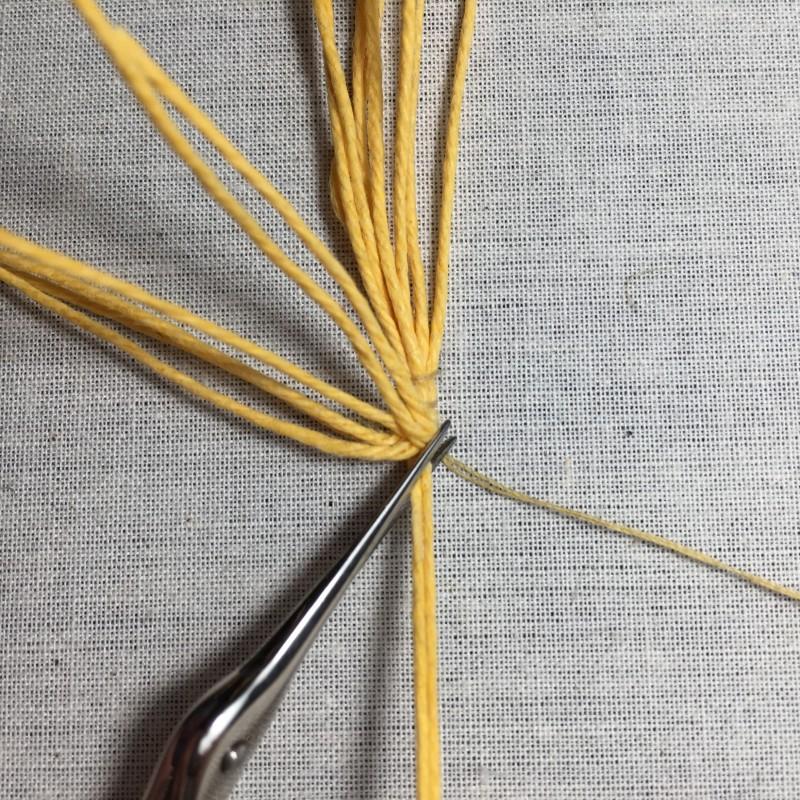 Soft string padding method stage 6 photograph