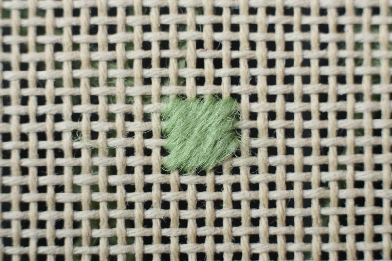 Crossed cushion stitch method stage 3 photograph