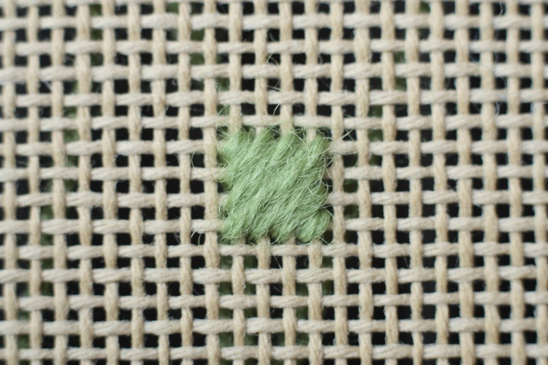 Crossed cushion stitch method stage 4 photograph