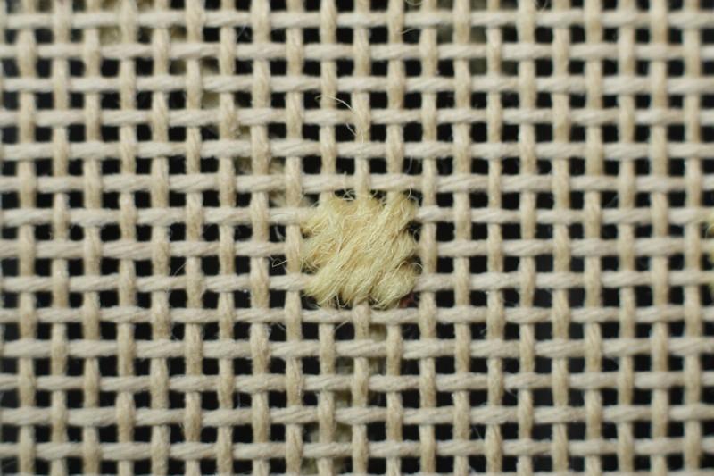 Reversed cushion stitch method stage 3 photograph