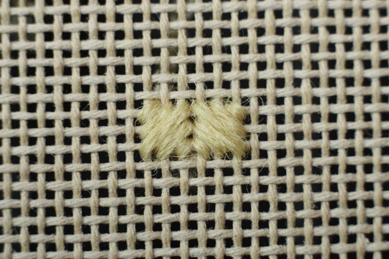 Reversed cushion stitch method stage 4 photograph