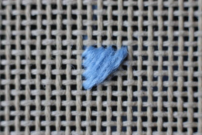 Chequer stitch method stage 3 photograph