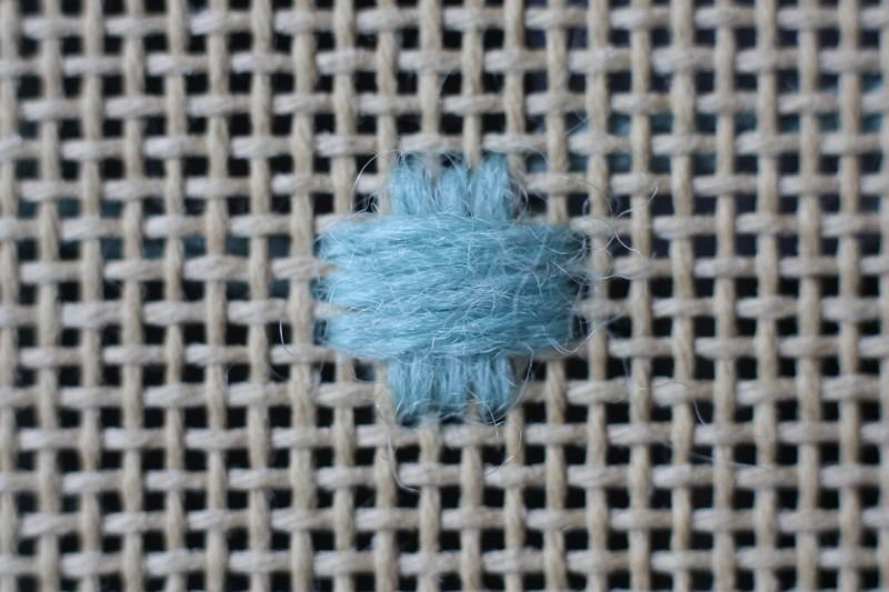 Broad cross stitch method stage 2 photograph
