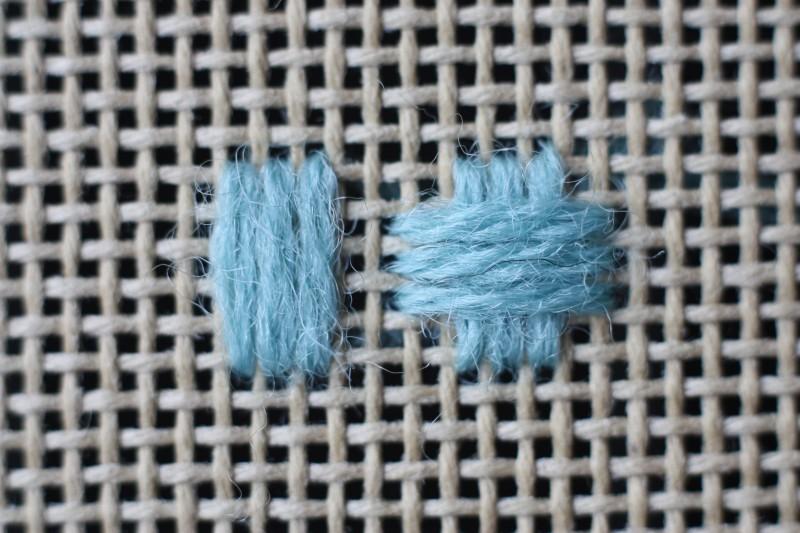 Broad cross stitch method stage 3 photograph
