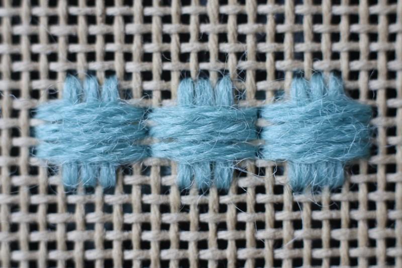 Broad cross stitch method stage 4 photograph