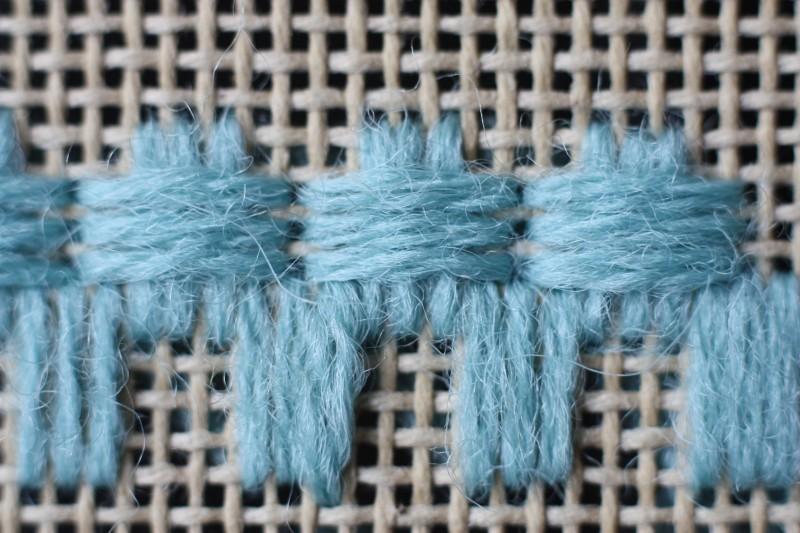 Broad cross stitch method stage 5 photograph
