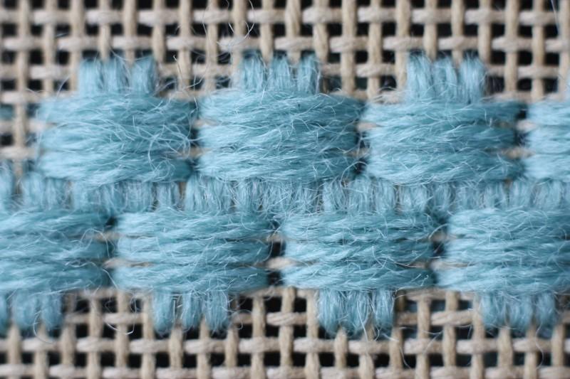 Broad cross stitch method stage 6 photograph