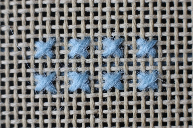 Barred square stitch method stage 2 photograph