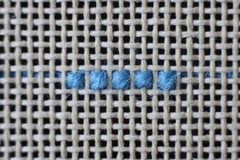 Alternating cross stitch method stage 1 photograph