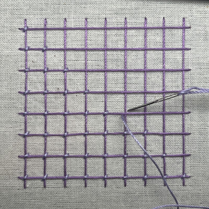 Interlaced Cross Bar method stage 2 photograph