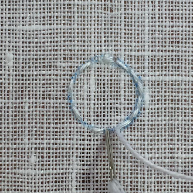 Large eyelet method stage 1 photograph