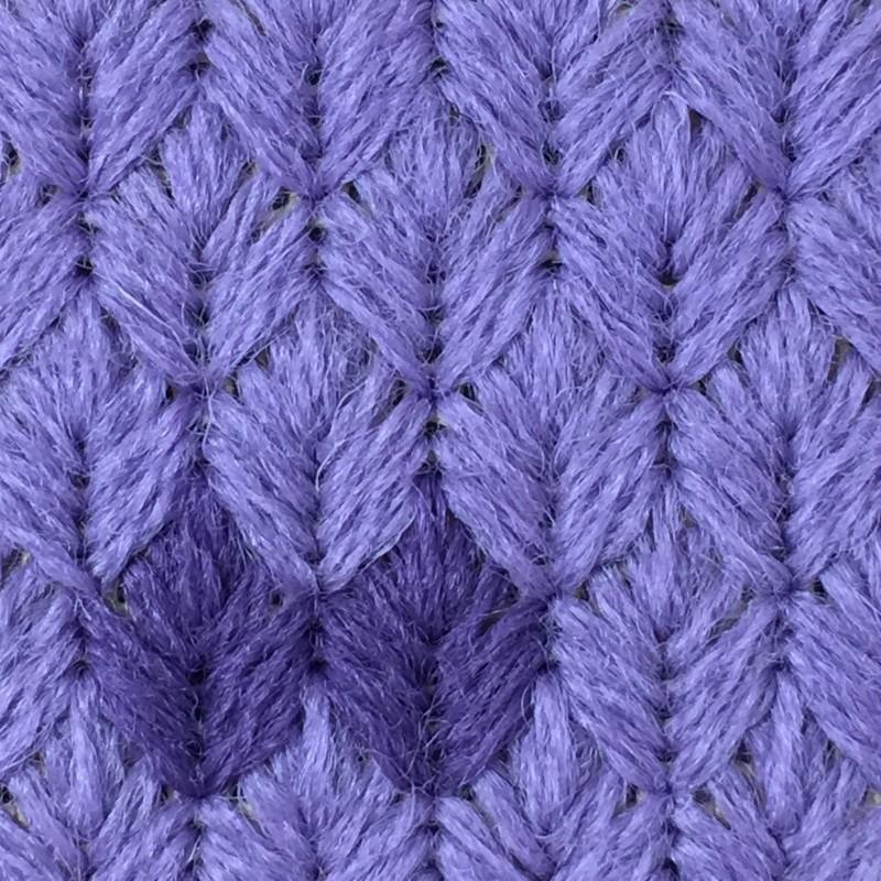 Leaf stitch (canvaswork) method stage 7 photograph