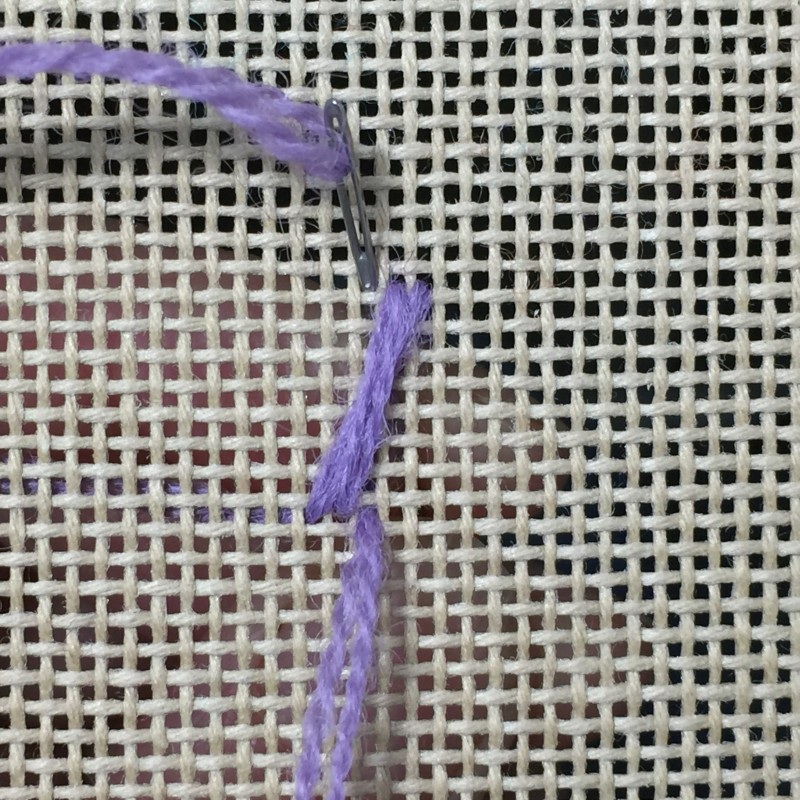 Maltese cross stitch method stage 2 photograph
