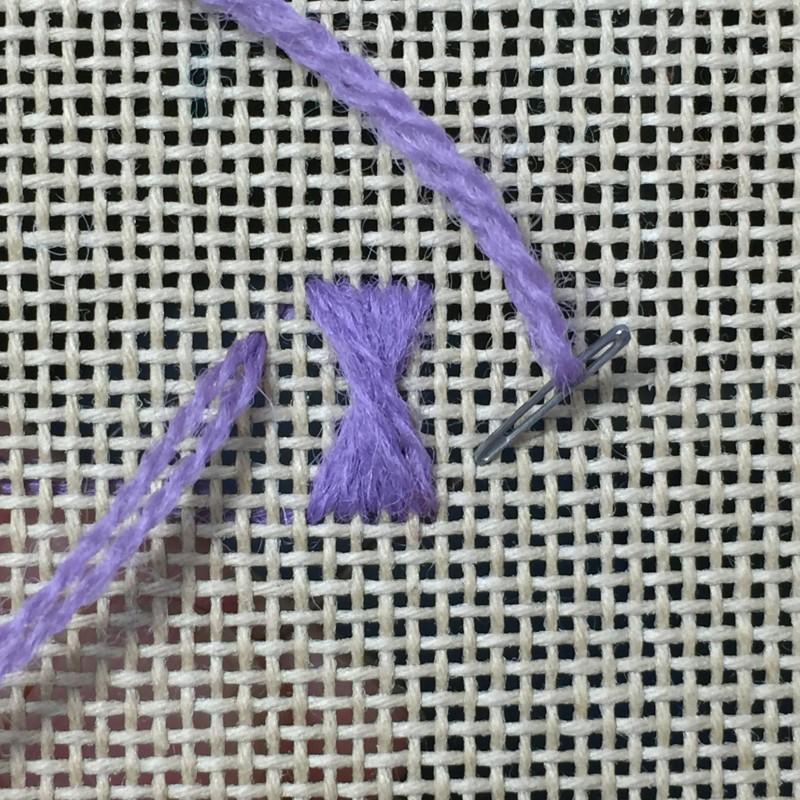 Maltese cross stitch method stage 4 photograph