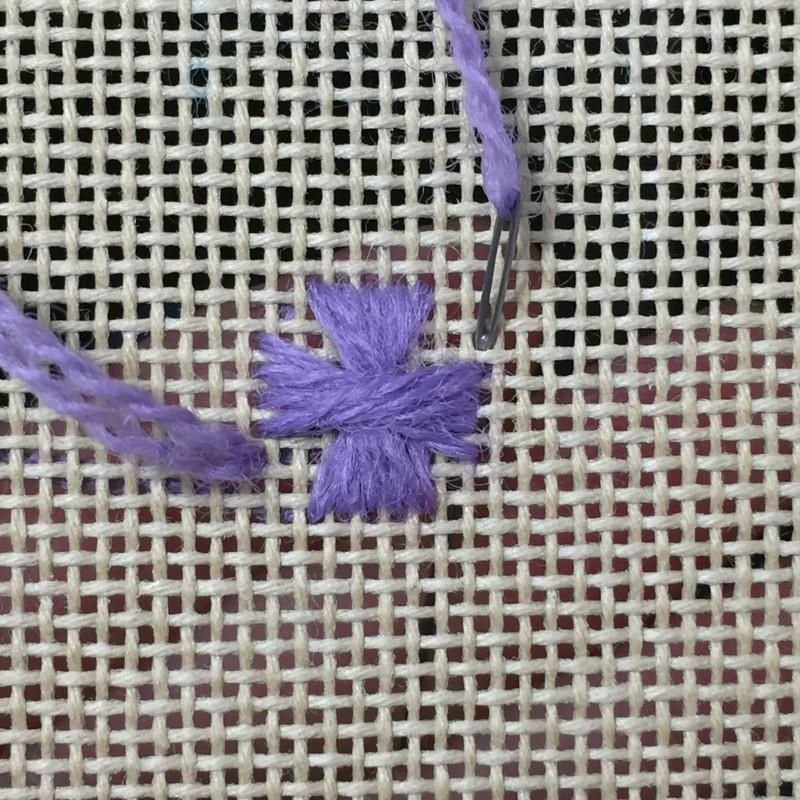 Maltese cross stitch method stage 6 photograph