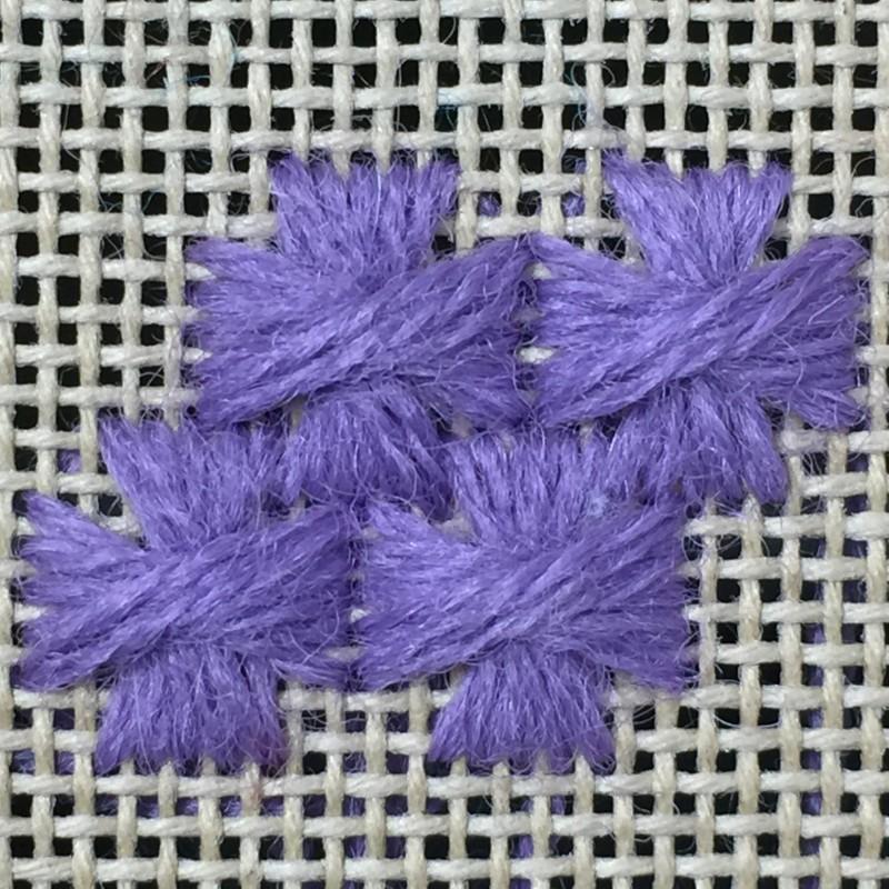 Maltese cross stitch method stage 7 photograph