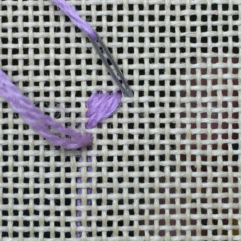 Milanese stitch method stage 2 photograph