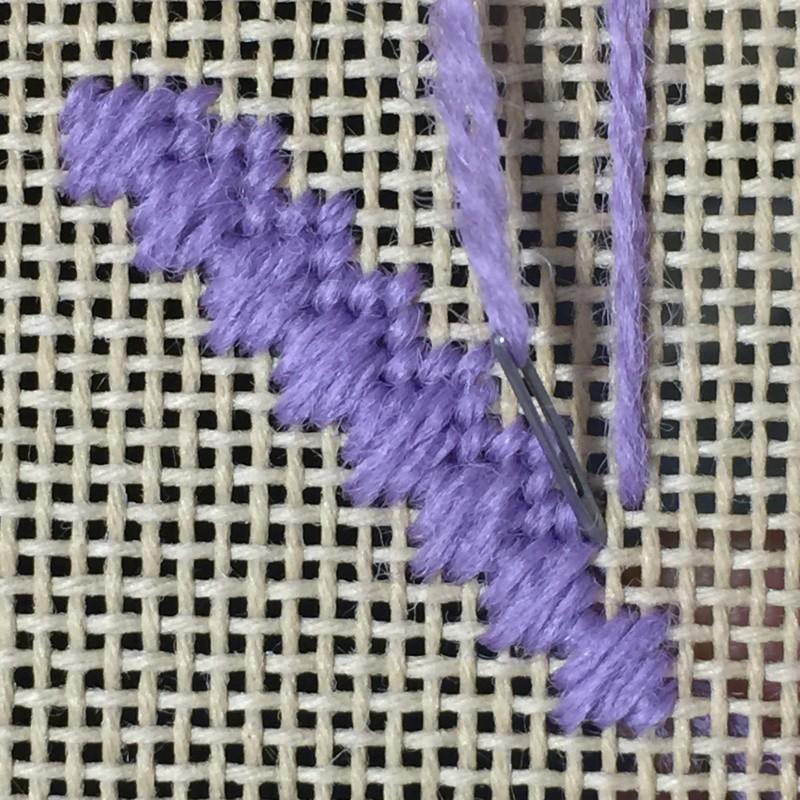Moorish stitch method stage 3 photograph