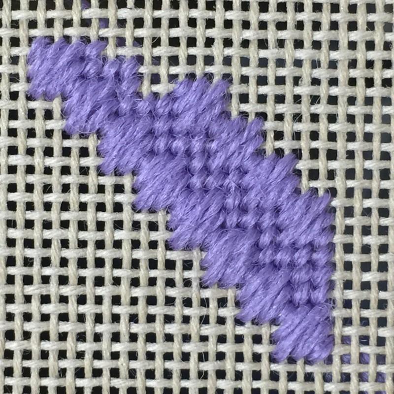 Moorish stitch method stage 4 photograph