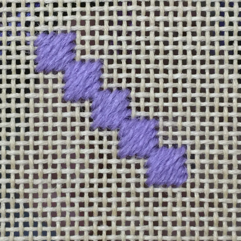 Oatmeal stitch method stage 3 photograph