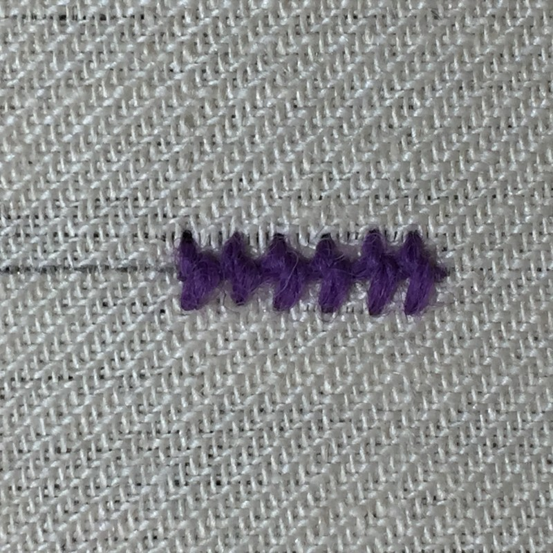 Pearl stitch (variation) method stage 8 photograph