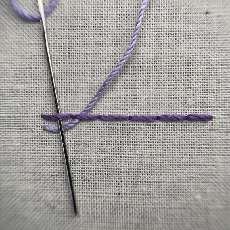 Pekinese stitch method stage 3 photograph