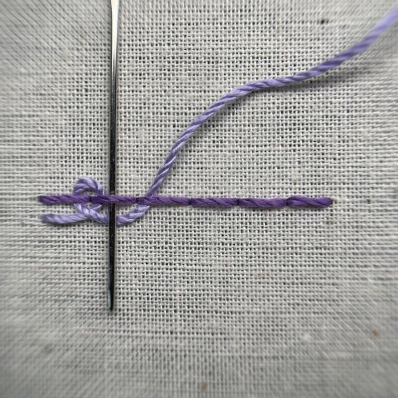 Pekinese stitch method stage 4 photograph