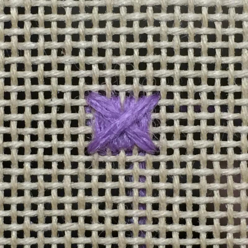 Pineapple half drop stitch method stage 3 photograph