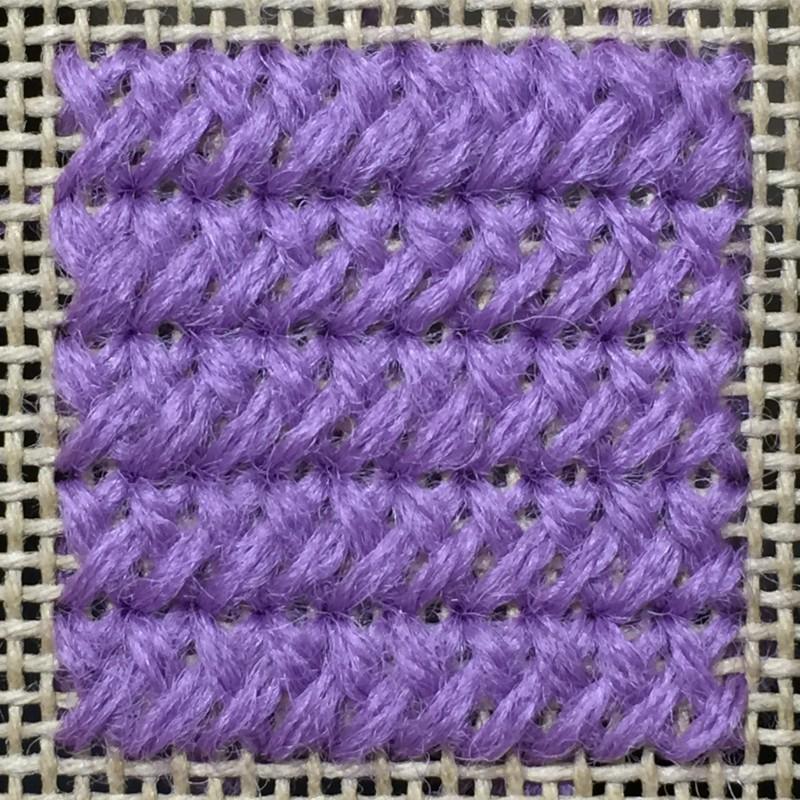 Plait stitch method stage 5 photograph