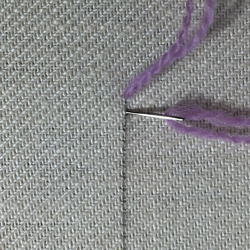 Quaker stitch method stage 1 photograph