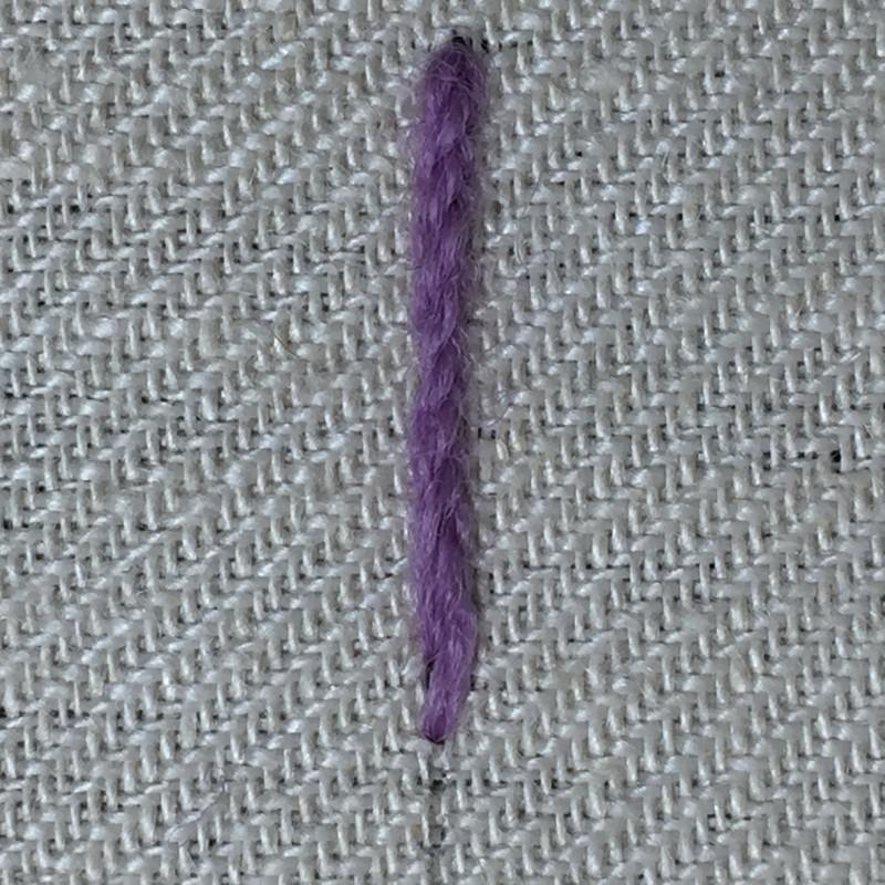 Quaker stitch method stage 7 photograph