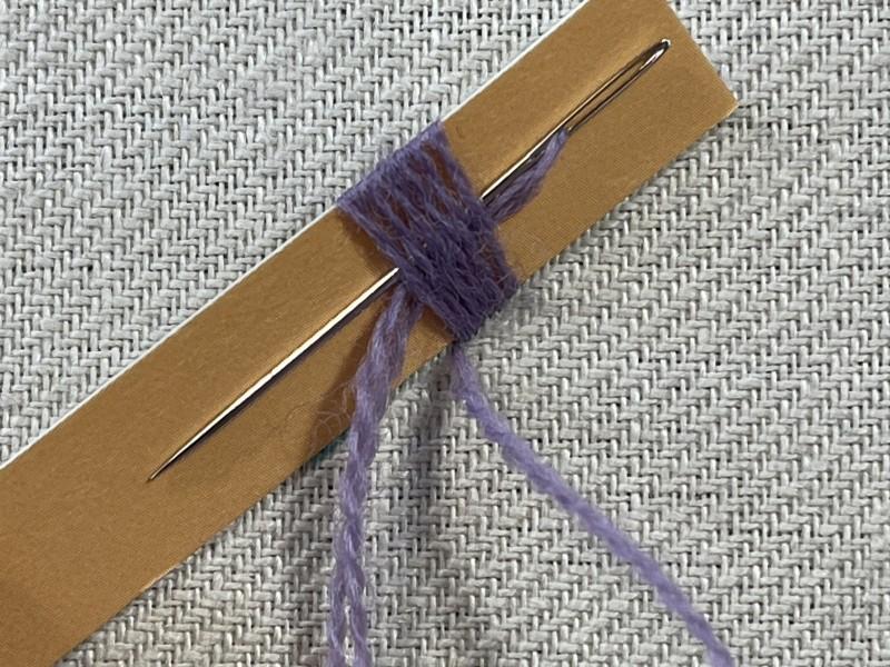 Raised leaf stitch method stage 5 photograph