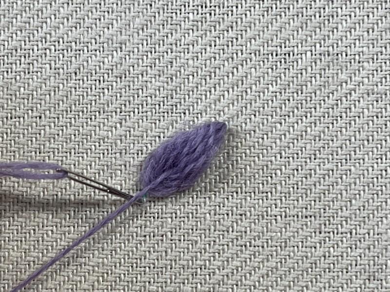 Raised leaf stitch method stage 8 photograph